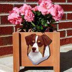 Australian Shepherd Planter Flower Pot Red Tri 1