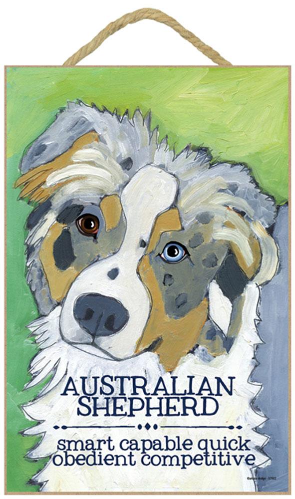 Australian Shepherd Characteristics Indoor Sign Blue Merle