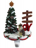 Australian Shepherd Stocking Holder Hanger Blue