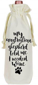 Australian Shepherd Wine Bag