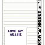 Australian Shepherd Dog Notepads To Do List Pad Pencil Gift Set 1
