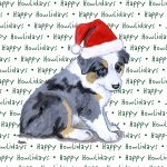 Australian Shepherd Dog Coasters Christmas Themed Puppy