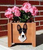 Basenji Planter Flower Pot Tri