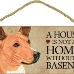 Basenji Wood Dog Sign Wall Plaque 5 x 10 + Bonus Coaster 1