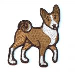 Basenji Iron on Embroidered Patch