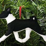 Basenji Ornament Black 1
