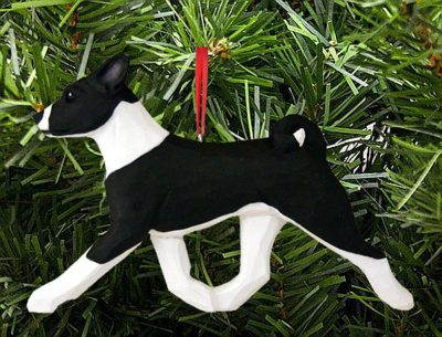 Basenji Ornament Black