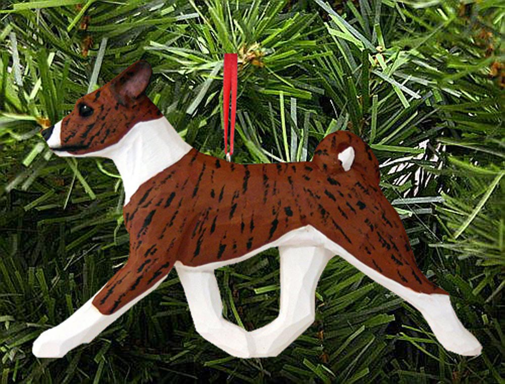 Basenji Ornament Brindle
