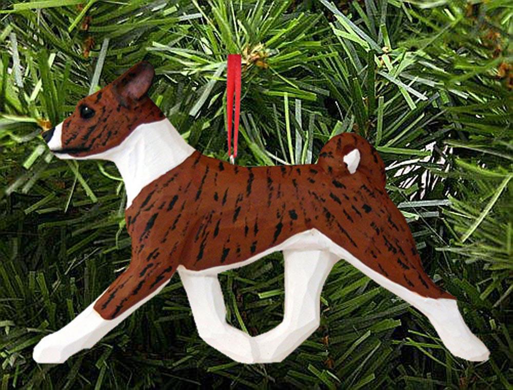 Basenji Ornament Brindle