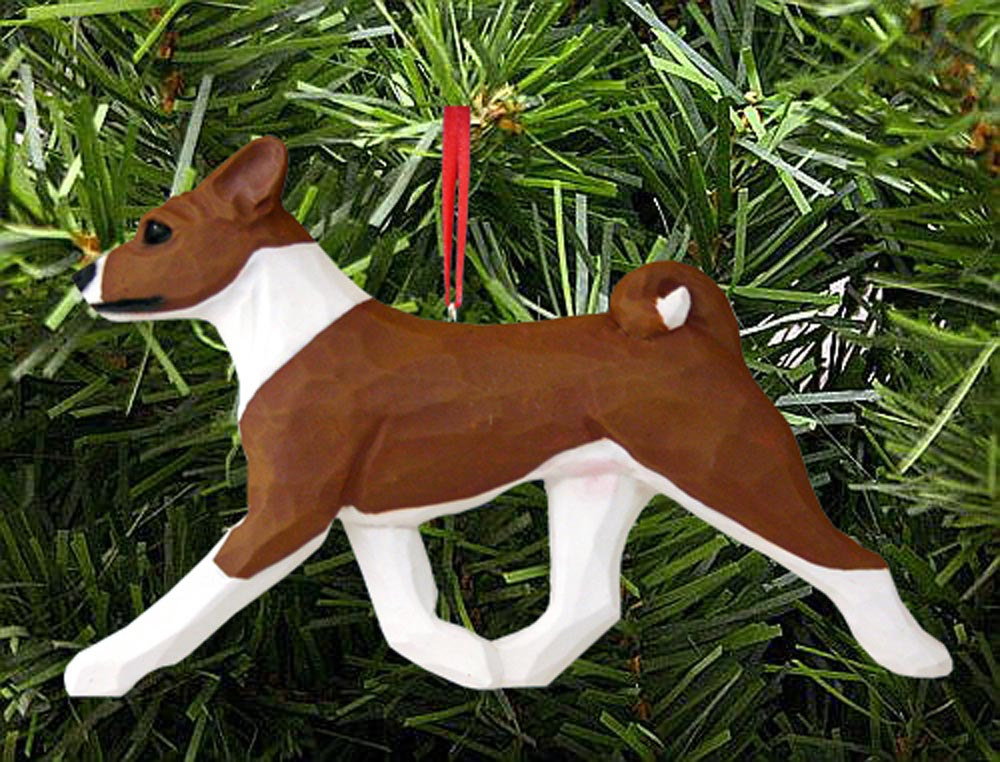 Basenji Ornament Red