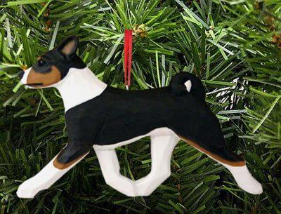 Basenji Ornament Tri