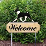 Basenji Outdoor Welcome Yard Sign Black & White in Color