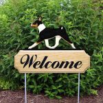 Basenji Outdoor Welcome Yard Sign Tri-Color