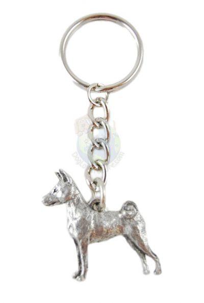 Basenji Pewter Keychain