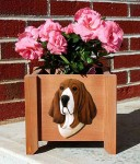 Basset Hound Planter Flower Pot Tri