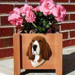 Basset Hound Planter Flower Pot Tri 1