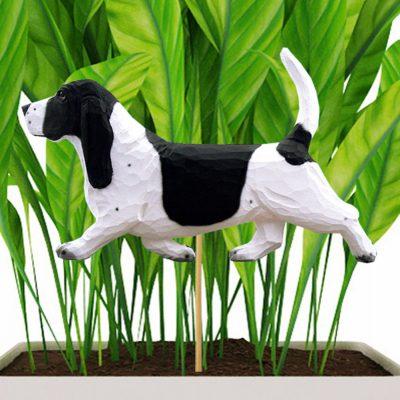 basset-hound-black-planter-stake