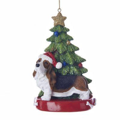 Basset Hound Christmas Tree Ornament