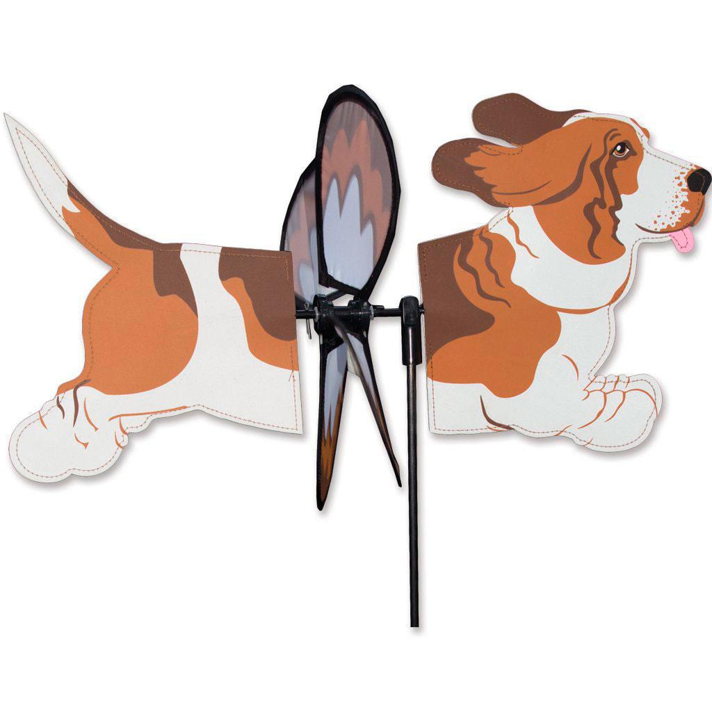 Basset Hound Garden Wind Spinner