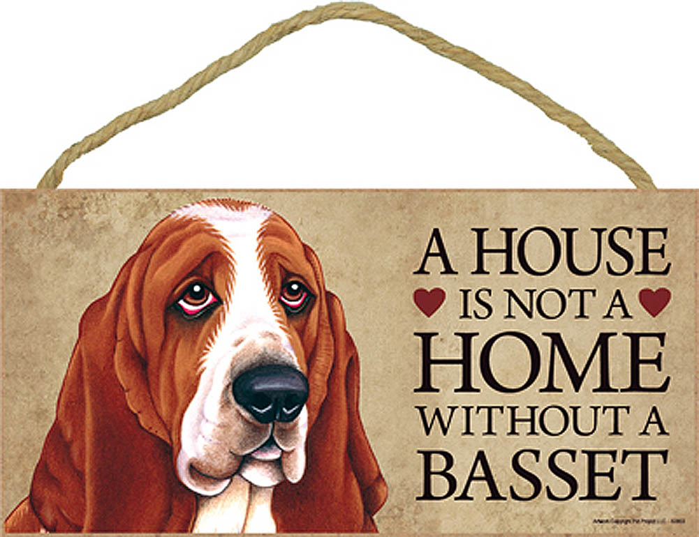 Basset Hound Wood Dog Sign Wall Plaque Photo Display 5 x 10 ...