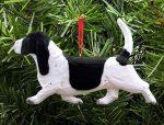 Basset Hound Ornament Black