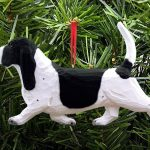 Basset Hound Ornament Black 1