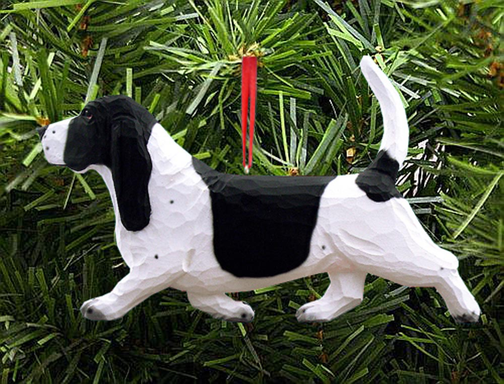 Basset Hound Ornament Black