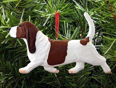 Basset Hound Ornament Red