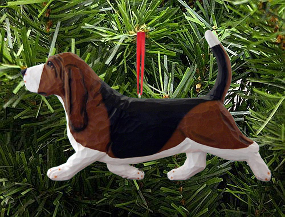 Basset Hound Ornament Tri