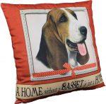 Basset Hound Pillow 16x16 Polyester