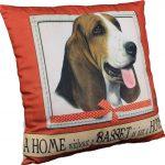 Basset Hound Pillow 16×16 Polyester 1