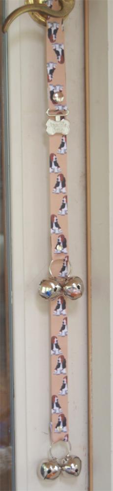 Basset Hound Puppy Dog Potty Training Doorbells Poochie Bells 1