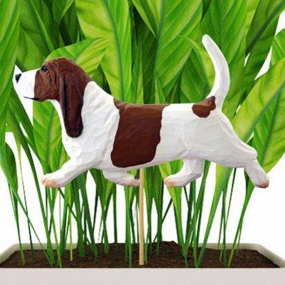 basset-hound-red-planter-stake