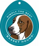 Basset Hound Sticker 4x4""