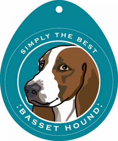 Basset Hound Sticker 4×4″ 1
