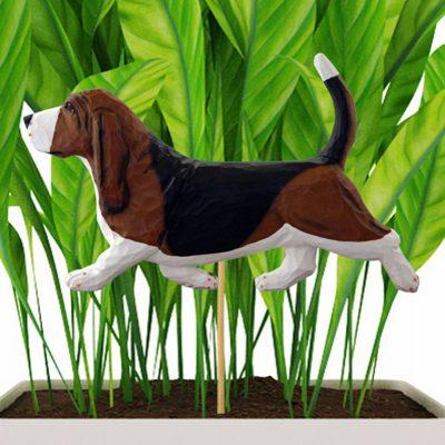 basset-hound-tri-planter-stake
