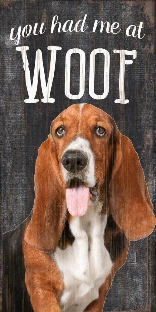 Basset Hound Sign - You Had me at WOOF 5x10
