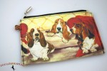 Basset Hound Dog Bag Zippered Pouch Travel Makeup Coin Purse