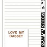 Basset Hound Dog Notepads To Do List Pad Pencil Gift Set 1