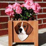 Beagle Planter Flower Pot Tri 1