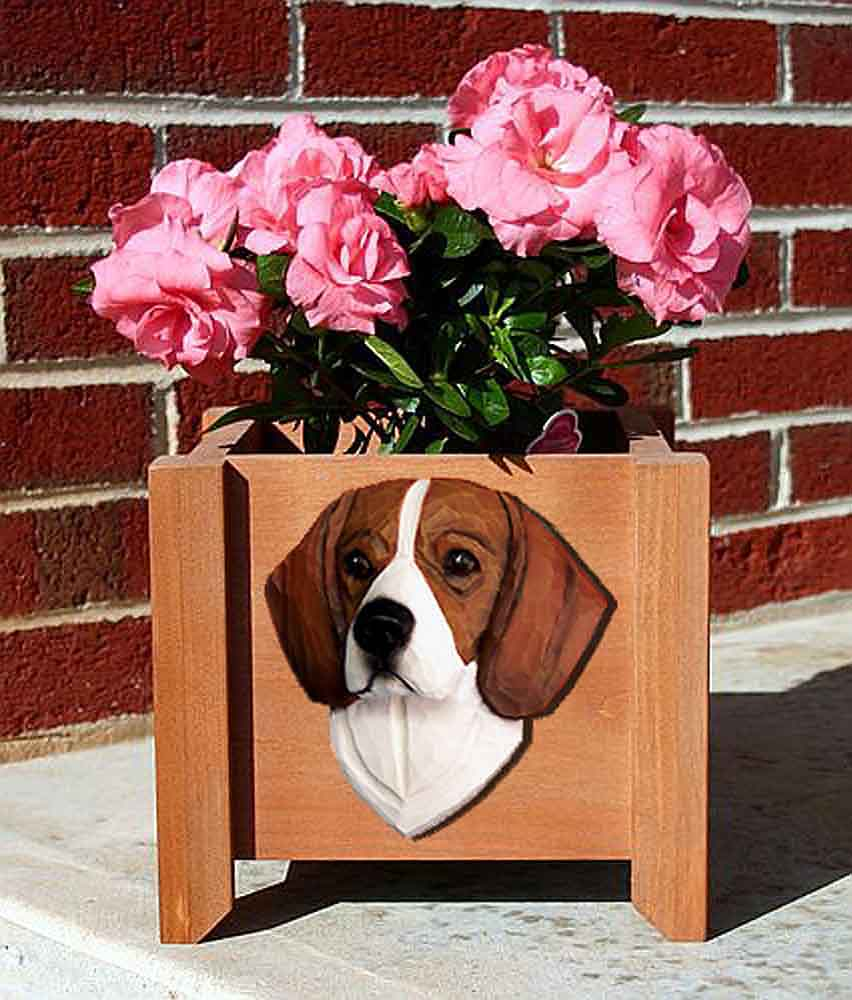 Beagle Planter Flower Pot Tri