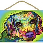 Beagle Sign – All You Need is Love & a Dog 7 x 10