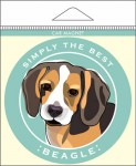Beagle Car Magnet 4x4""