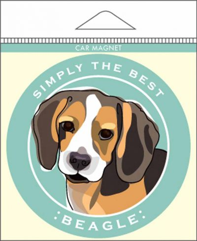 Beagle Car Magnet 4×4″ 1