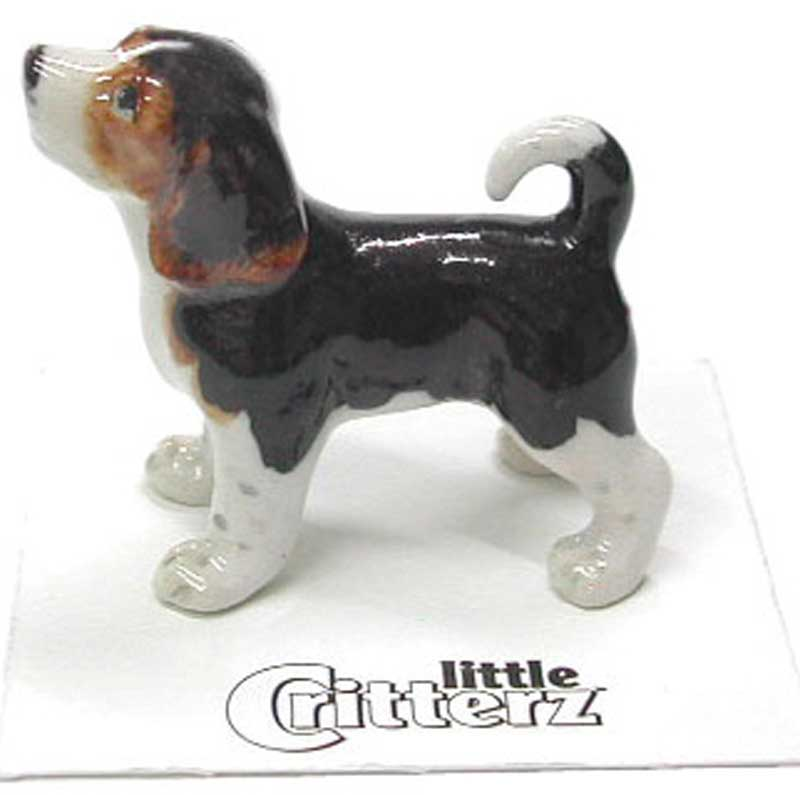 Beagle Hand Painted Porcelain Miniature Figurine