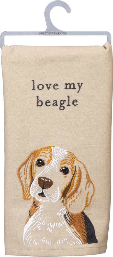 Beagle Kitchen Dish Towel By Kathy