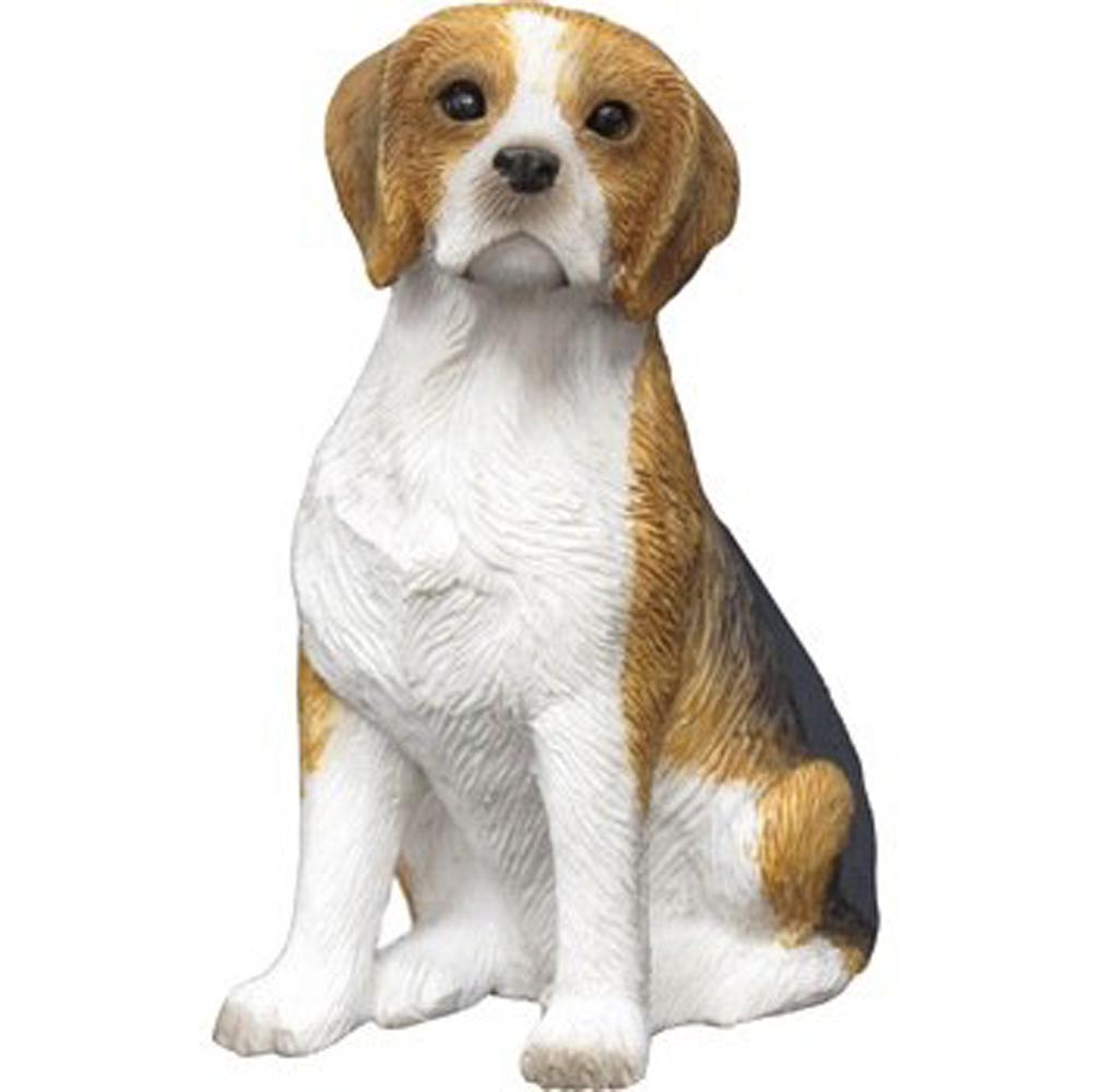 Beagle Figurine Hand Painted - Sandicast