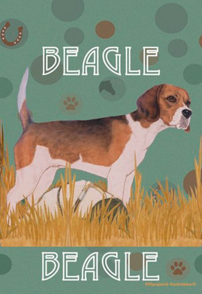 Exceptionnel Beagle Garden Flag