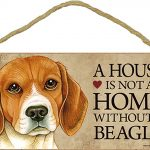 Beagle Wood Dog Sign Wall Plaque 5 x 10 + Bonus Coaster 1
