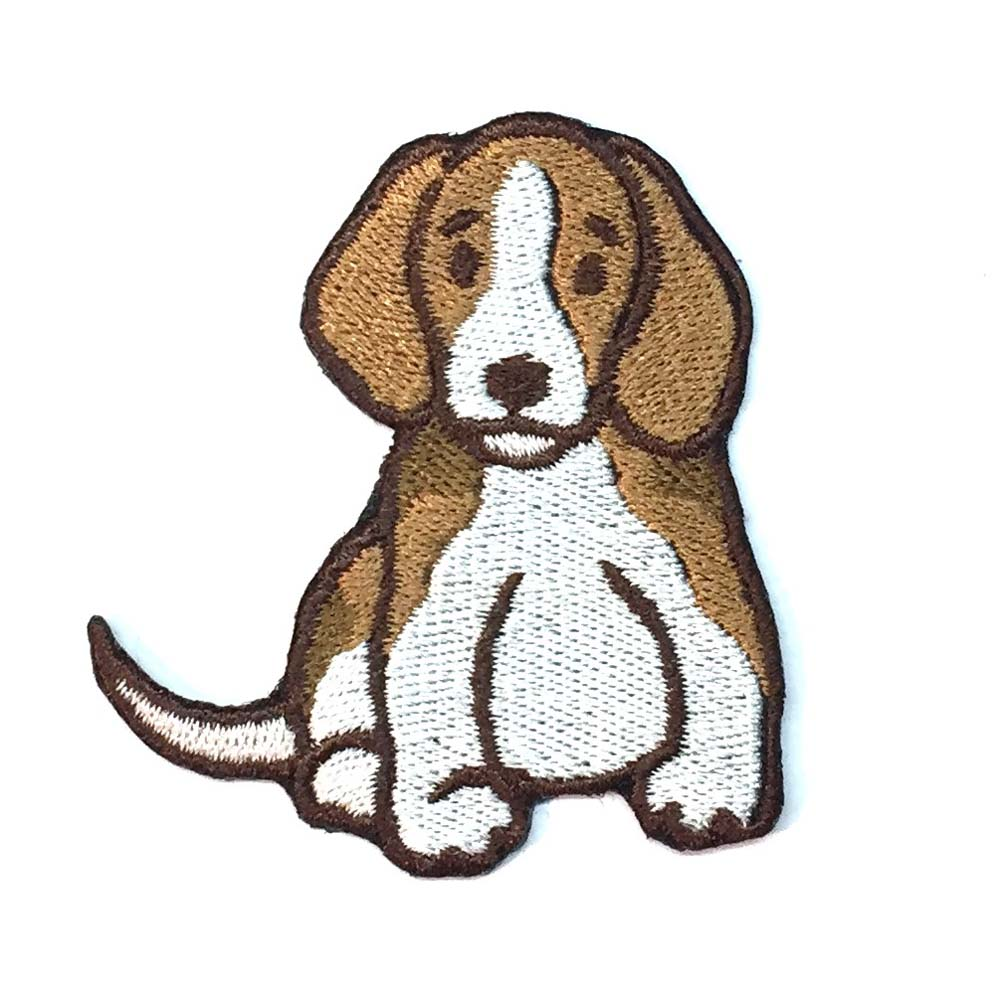 Beagle Iron on Embroidered Patch